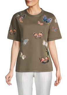 Valentino Butterfly-Print Tee