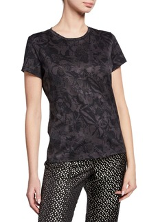 Valentino Butterfly Short-Sleeve Cotton Tee
