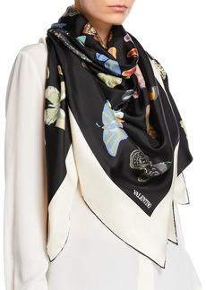 Valentino Butterfly Silk Shawl