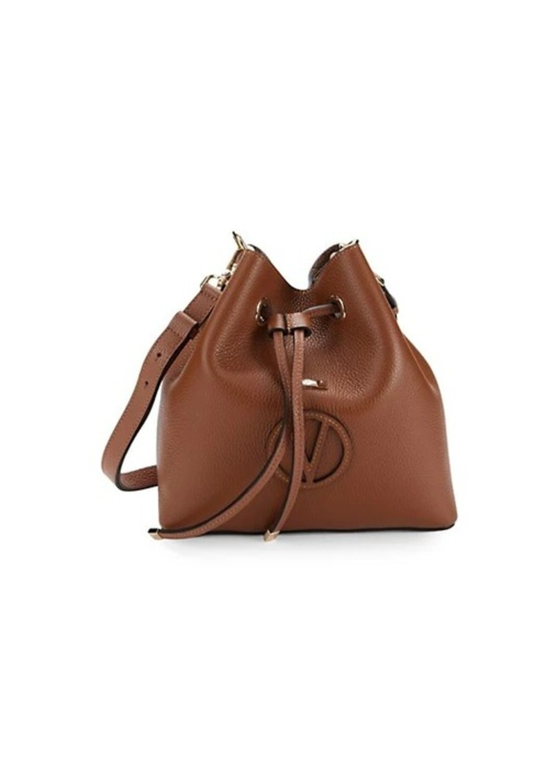 Valentino by Mario Valentino 2-in-1 Leather Bucket Bag