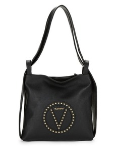 Valentino by Mario Valentino Abel Studded Pebble Leather Tote Bag