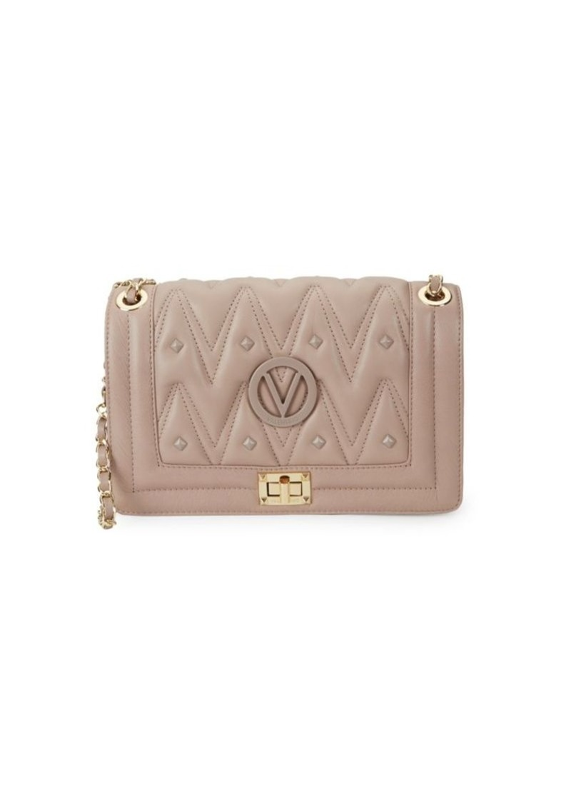 Valentino by Mario Valentino Alice D Studded Leather Shoulder Bag