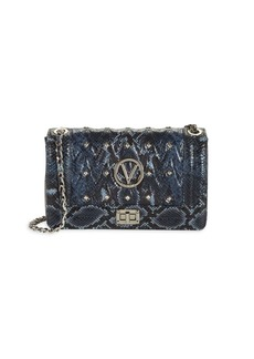 Valentino by Mario Valentino Alice Studded Python-Embossed Leather Crossbody Bag