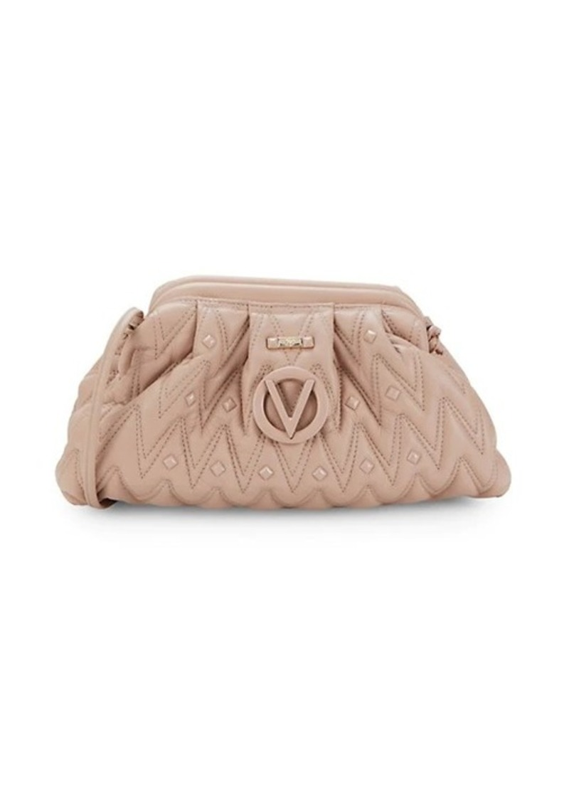 Valentino by Mario Valentino Anais Chevron-Quilted Leather Crossbody Clutch