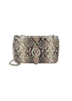 Valentino by Mario Valentino Antoinette Python-Embossed Leather Crossbody Bag