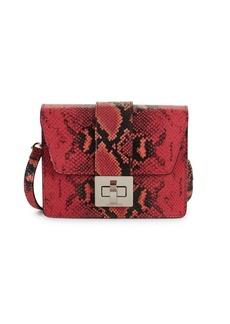 Valentino by Mario Valentino Benedicte Python Embossed Leather Crossbody Bag