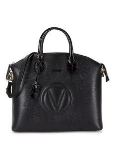 Valentino by Mario Valentino Bravia Pebbled Leather Satchel