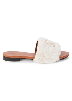 Valentino by Mario Valentino Carrie Faux Fur Sandals