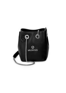 Valentino by Mario Valentino Chain Strap Leather Bucket Bag