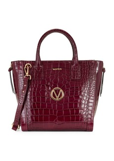 Valentino by Mario Valentino Charmont Croc-Embossed Leather Tote