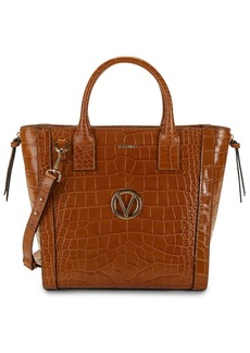 Valentino by Mario Valentino Charmont Crocodile-Embossed Leather Convertible Tote