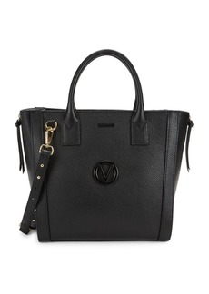 Valentino by Mario Valentino Charmont Dollaro Pebbled Leather Satchel