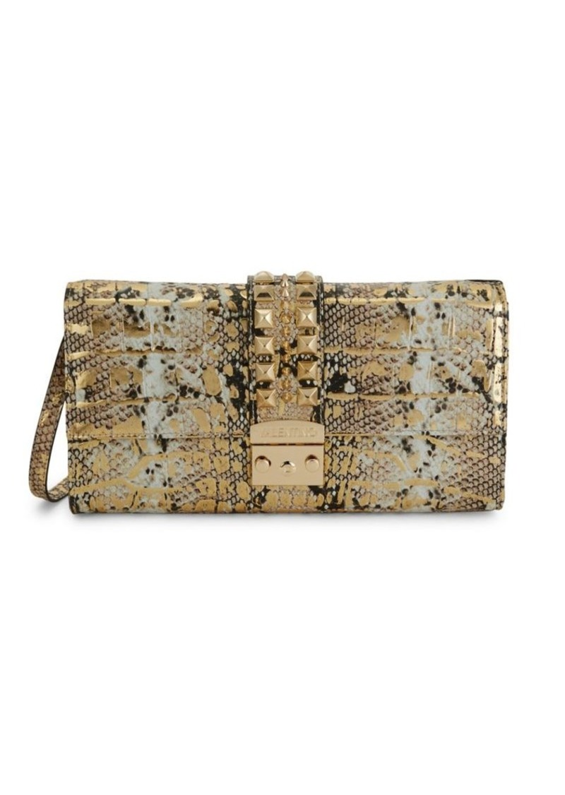 Valentino by Mario Valentino Cocotte Embossed Snakeskin Leather Crossbody Bag