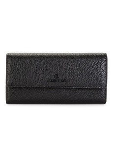 Valentino by Mario Valentino Collins Dollaro Pebbled Leather Continental Wallet