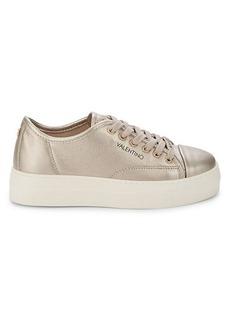 Valentino by Mario Valentino Dalia Metallic Leather Sneakers
