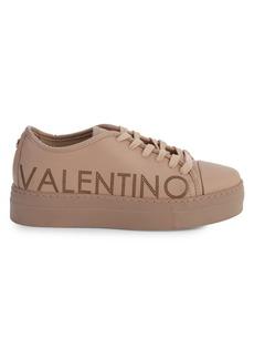 Valentino by Mario Valentino Dalia Sauvage Laser Leather Platform Runners