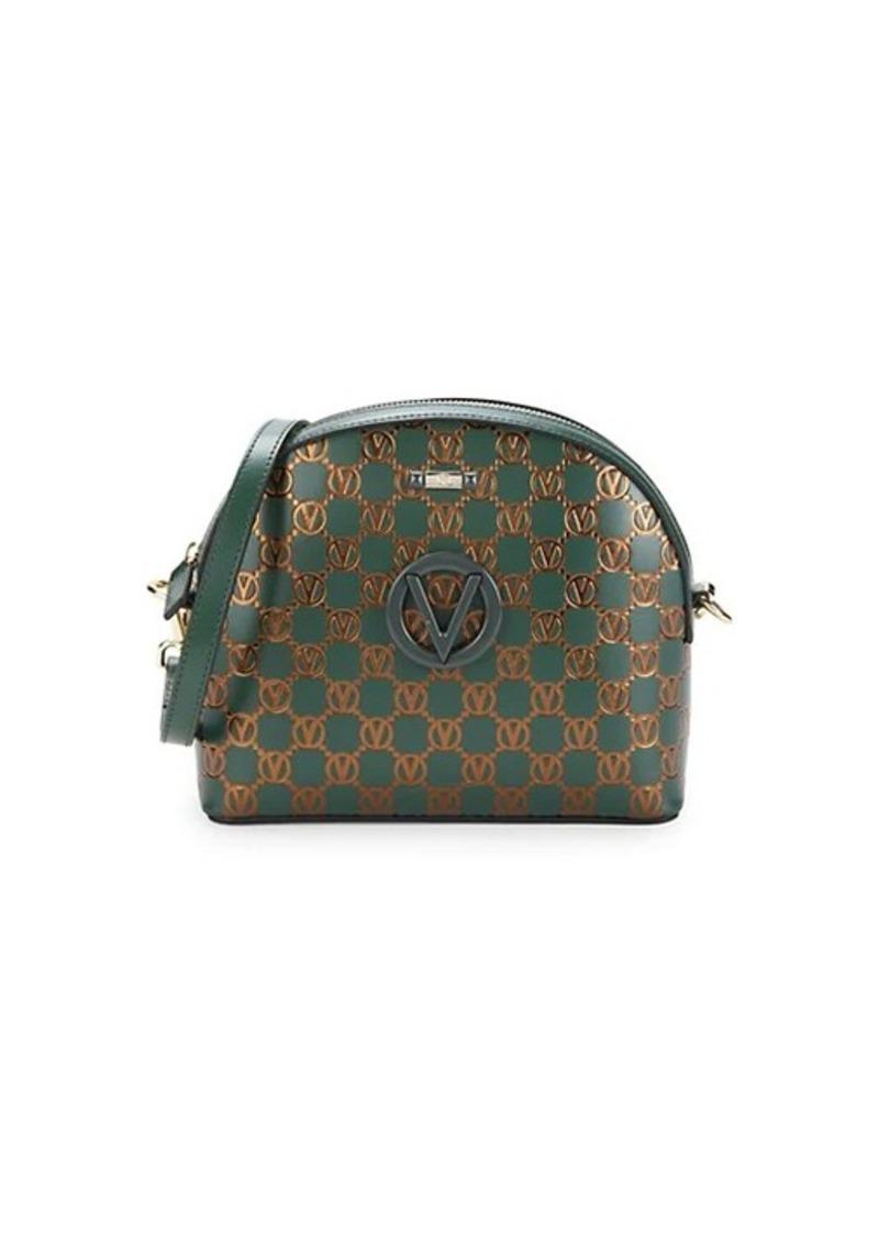 Valentino by Mario Valentino Diana Monogram Leather Crossbody Bag