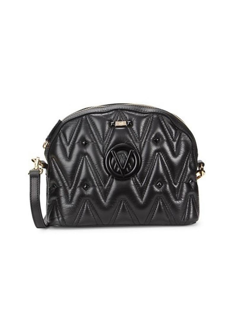 Valentino by Mario Valentino Dianad Diamond Studded Leather Crossbody Bag