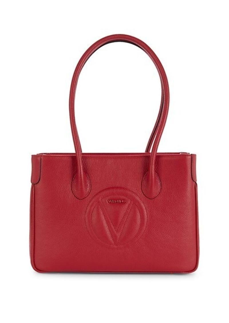Valentino by Mario Valentino Dorianne Logo Leather Tote