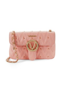Valentino by Mario Valentino Embellished Leather Crossbody Bag