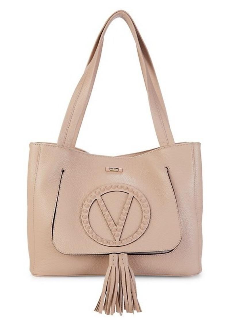 Valentino by Mario Valentino Estelle Rockstud Leather Logo Tote