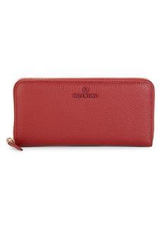 Valentino by Mario Valentino Farley Dollaro Pebbled Leather Continental Wallet