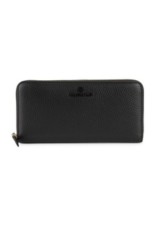 Valentino by Mario Valentino Farley Pebbled-Leather Zip-Around Long Wallet