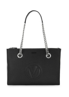 Valentino by Mario Valentino Floralie Logo Embroidered Leather Tote Bag