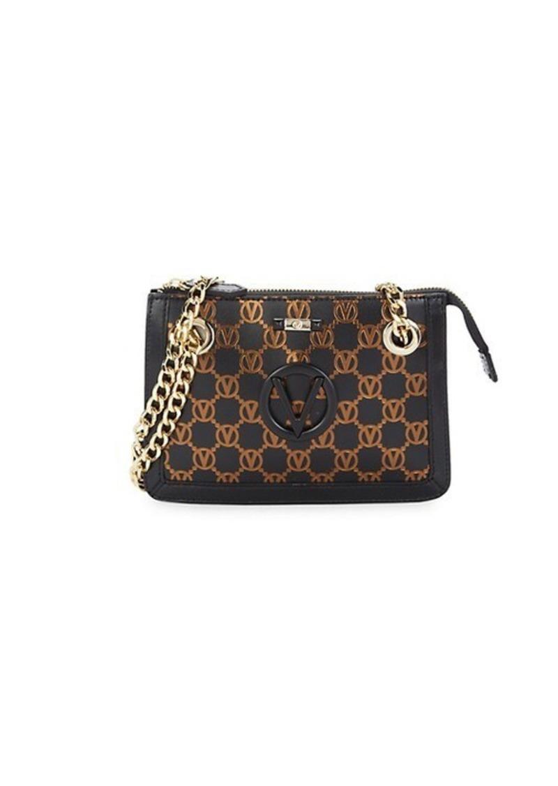 Valentino by Mario Valentino Ginette Monogram-Print Leather Shoulder Bag