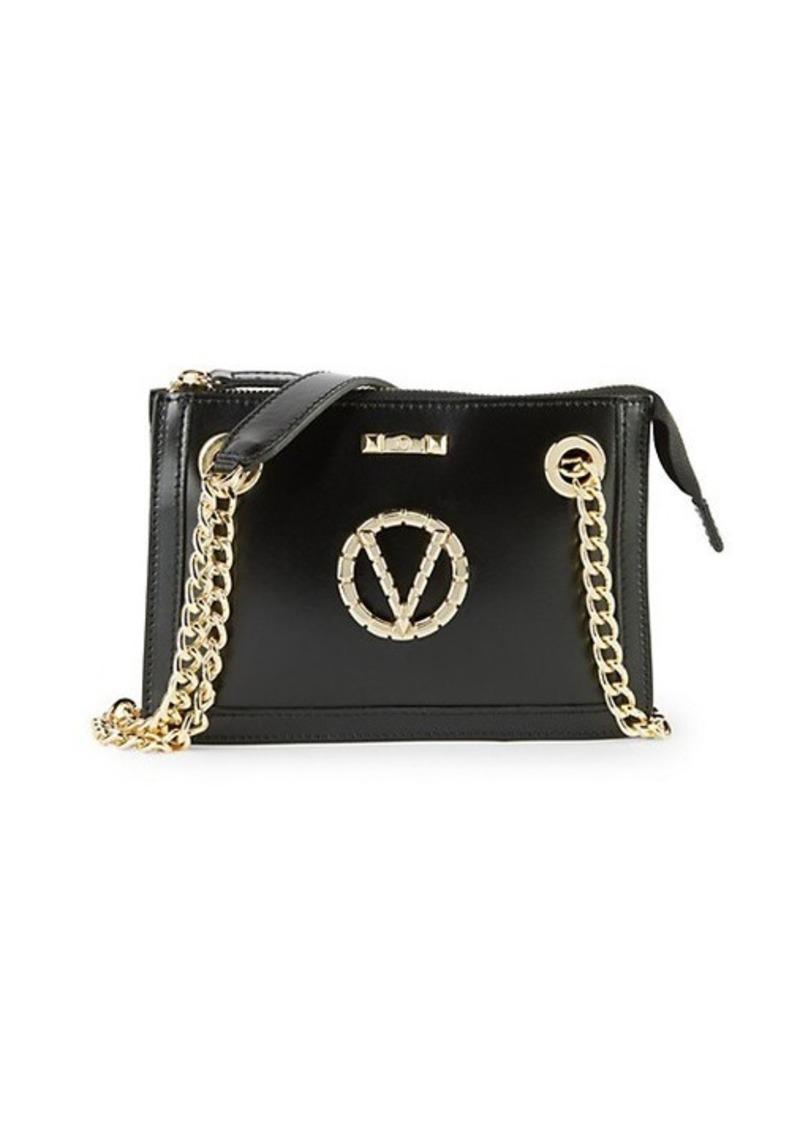 Valentino by Mario Valentino Ginette Sauvage V-Logo Leather Shoulder Bag