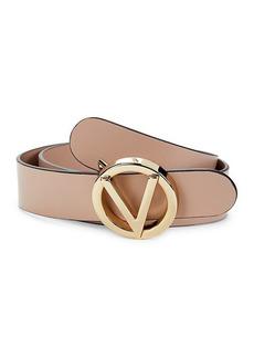 Valentino by Mario Valentino Giusy Logo Leather Belt