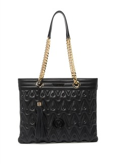 Valentino by Mario Valentino Iris D Sauvage Studded Quilted Leather Tote Bag