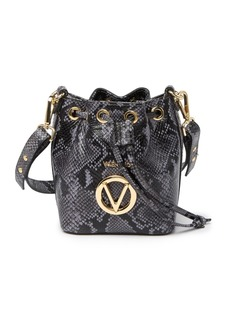 Valentino by Mario Valentino Jules Python Leather Bucket Bag