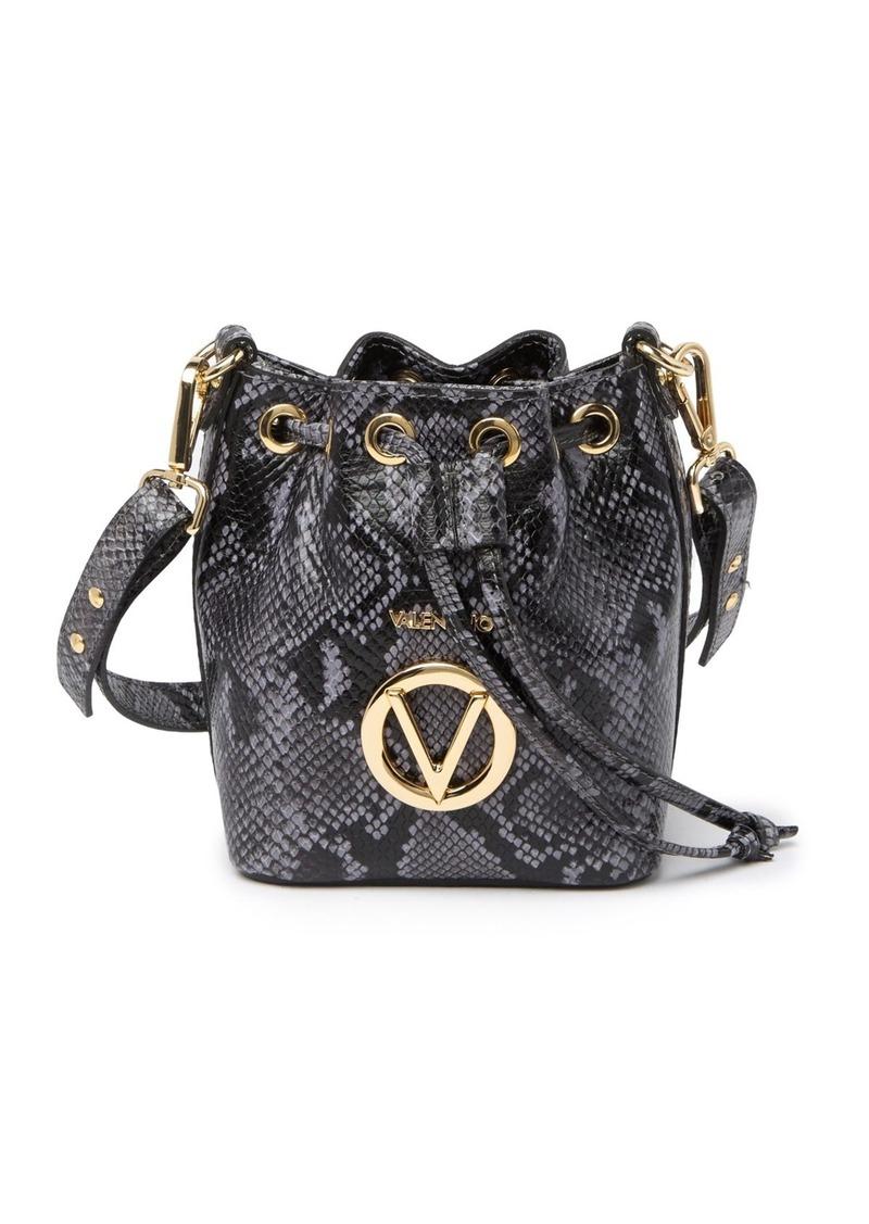 Valentino by Mario Valentino Jules Python Leather Bucket Bag