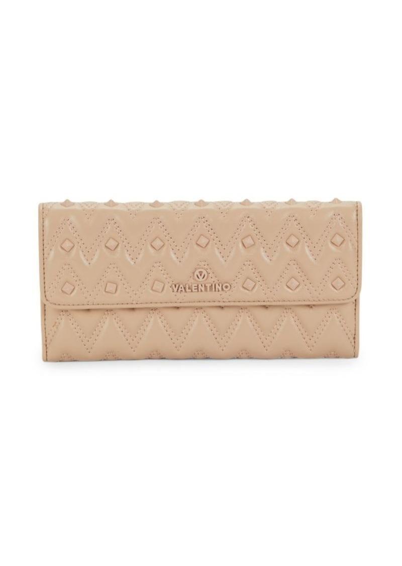 Valentino by Mario Valentino Julius Sauvage Rockstud Quilted Clutch Wallet