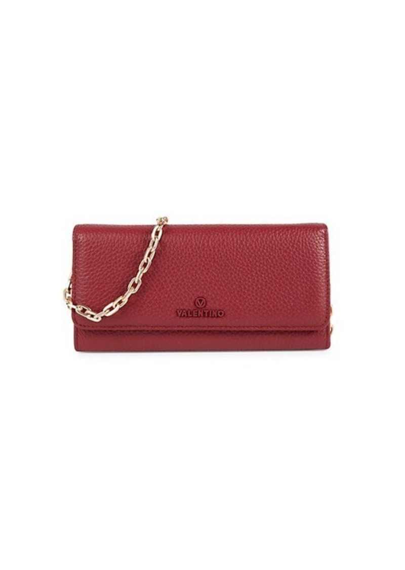 Valentino by Mario Valentino Jupiter Texture Leather Chain Wallet