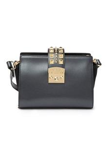 Valentino by Mario Valentino Kiki Palmellato Studded Leather Crossbody Bag