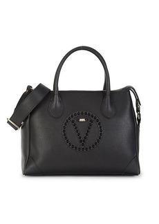 Valentino by Mario Valentino Kim Rock Logo Leather Satchel