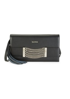Valentino by Mario Valentino Lena Chain & Tassel Pebbled-Leather Crossbody Bag