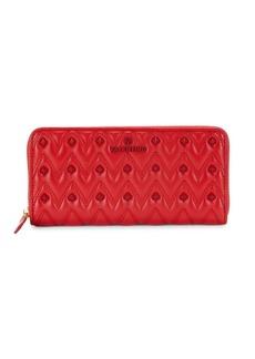 Valentino by Mario Valentino Leonardo Sauvage Rockstud Chevron Leather Long Wallet