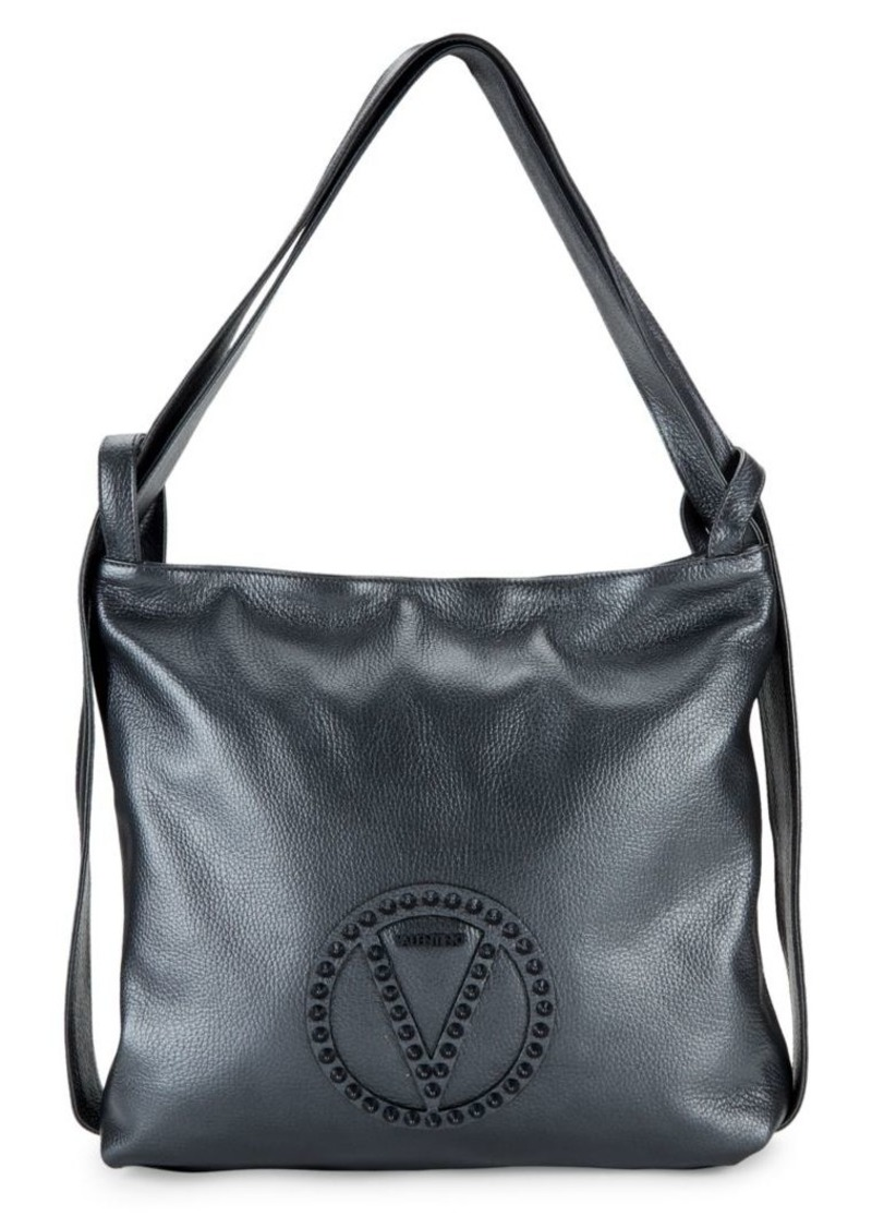 Valentino by Mario Valentino Leopold Rock Dollaro Leather Backpack Tote