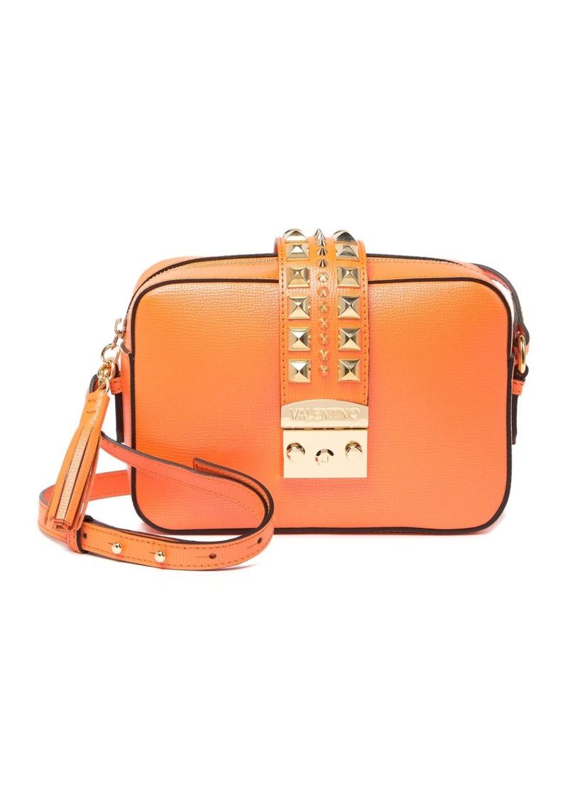 Valentino by Mario Valentino Lila Studded Leather Crossbody Bag
