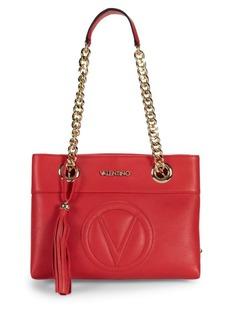 Valentino by Mario Valentino Logo Leather Shoulder Bag