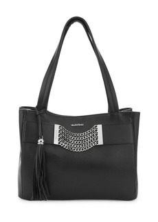 Valentino by Mario Valentino Luisa Chain & Tassel Pebbled Leather Tote