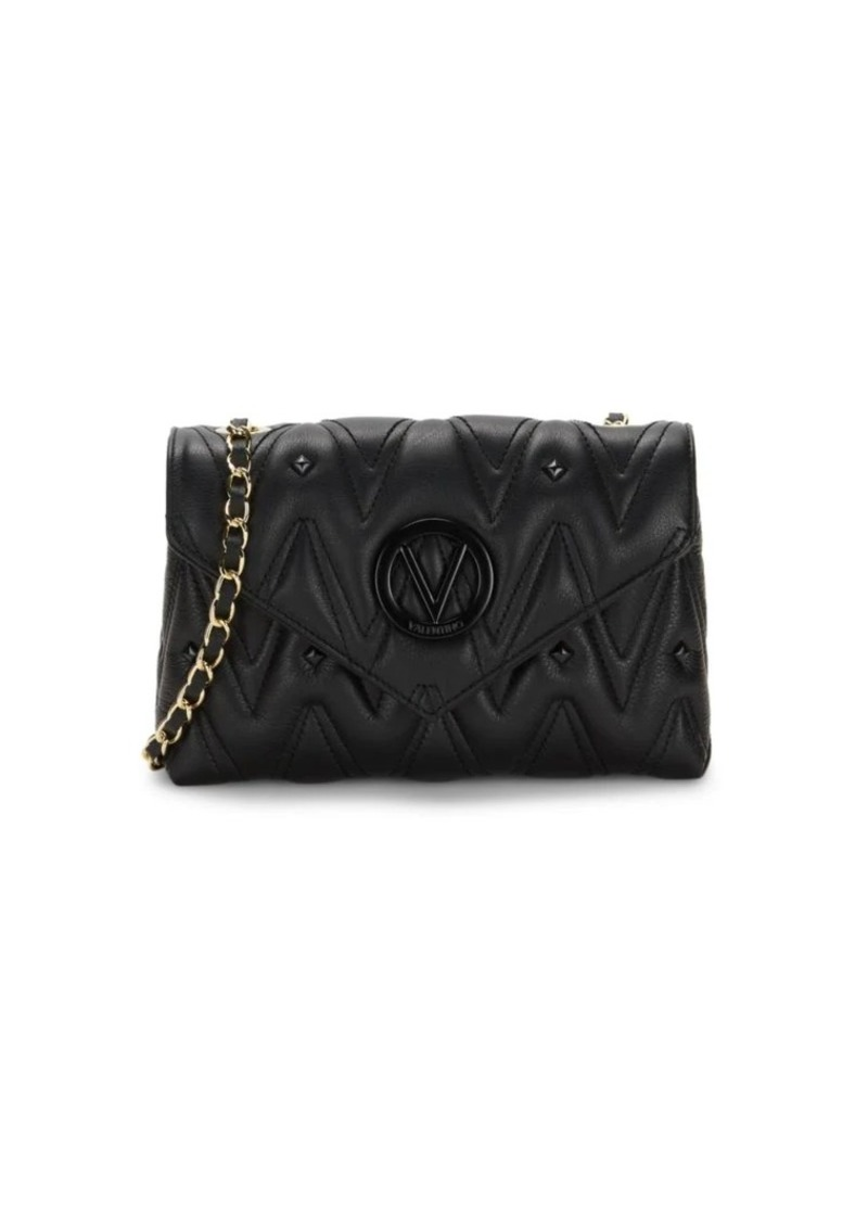 Valentino by Mario Valentino Lynn Sauvage Chevron Rockstud Leather Shoulder Bag