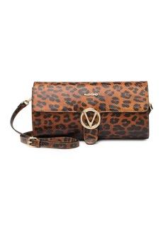 Valentino by Mario Valentino Marbelle Snakeskin Embossed Leather Shoulder Bag