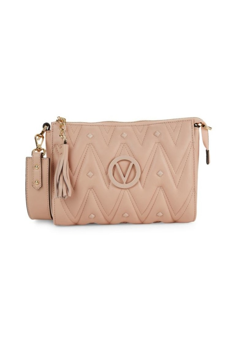 Valentino by Mario Valentino Marlene Chevron Quilted Leather Shoulder Bag