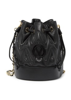 Valentino by Mario Valentino May D Sauvage Quilted Leather Bucket Bag