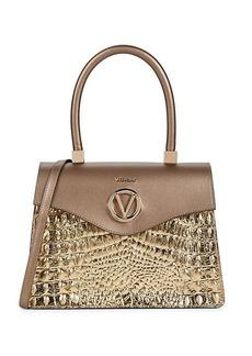Valentino by Mario Valentino Melanie Croc-Embossed Leather Satchel
