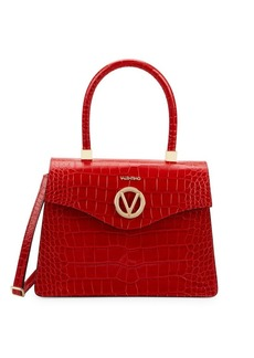 Valentino by Mario Valentino Melanie Croc-Embossed Leather Shoulder Bag